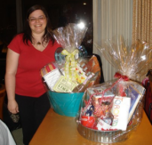 Deanna Belli created two stunning raffle baskets.